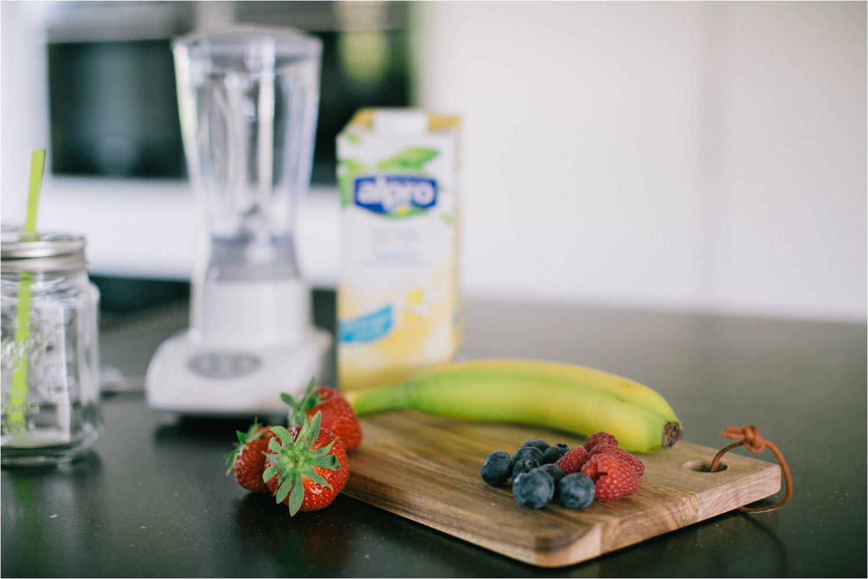 Zomerse smoothie met fruit