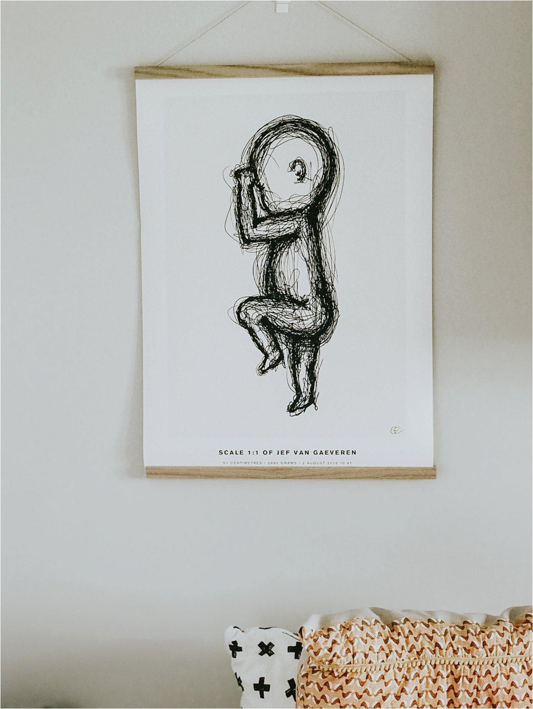 The birth poster geboorte cadeau